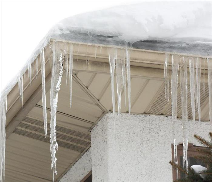 Ice Dam on residential roof